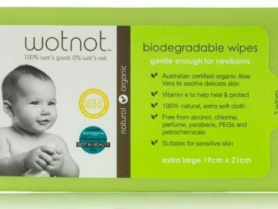 WOTNOT baby wipes for eczema