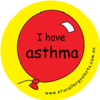 asthma alert sticker pack