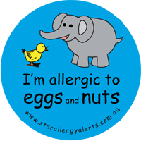 Egg & nut food allergy alert anaphylaxis alerts
