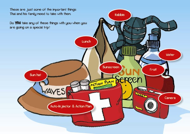 Food allergy anaphylaxis awareness story for kids city trip