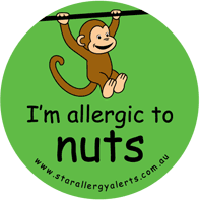 nut allergy peanut anaphylaxis sticker pack