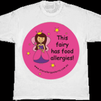 Kids food allergy alert t-shirt fairy has food allergies