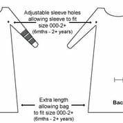 Bamboo sleeping bag for eczema babies