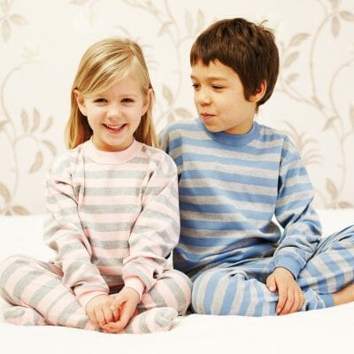 Silver PJ top for kids with eczema