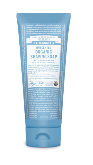 Organic Unscented Shaving Cream for eczema